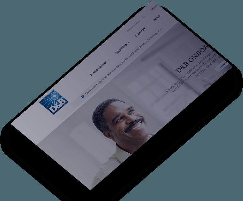 D&B web design