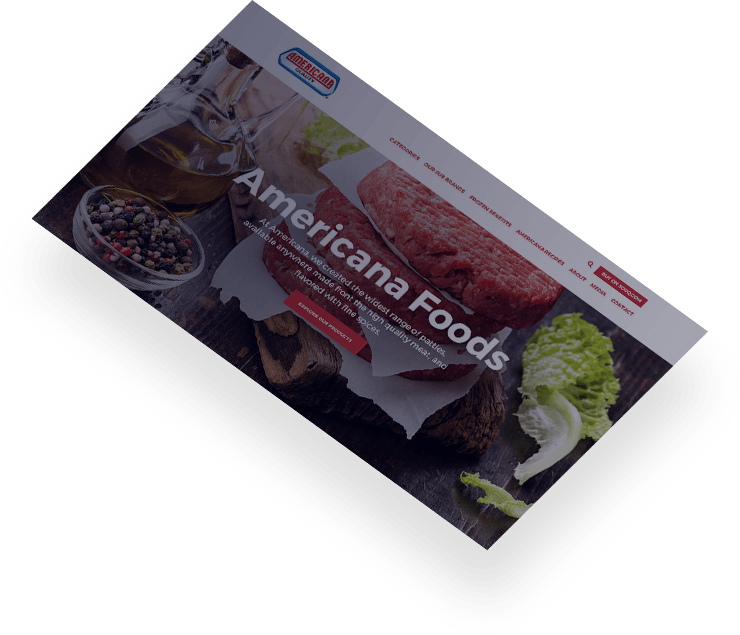 americana foods web design