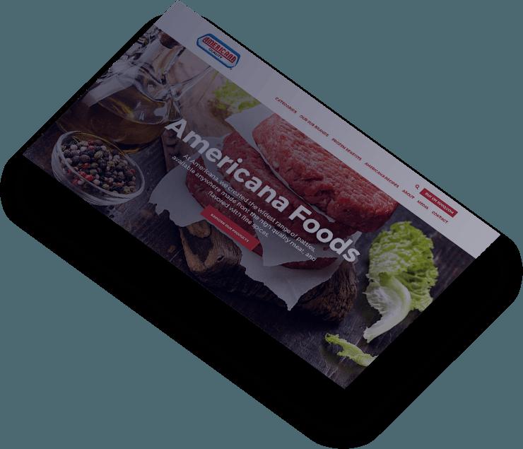 americana foods web design